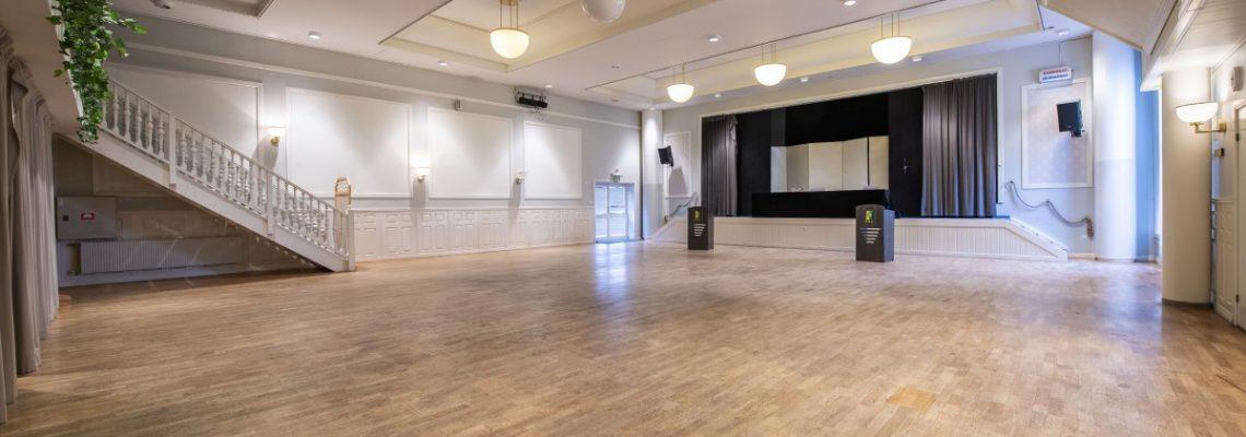 Tranan danslokalen på Medan Norsjö vy mot scen